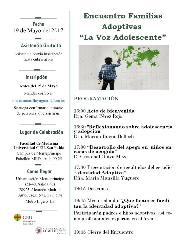 Imagen Cartel Encuentro Familias Adoptivas